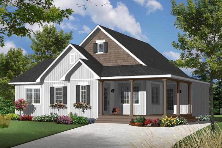 Country House Plan - Galerno 4 35987 - Front Exterior