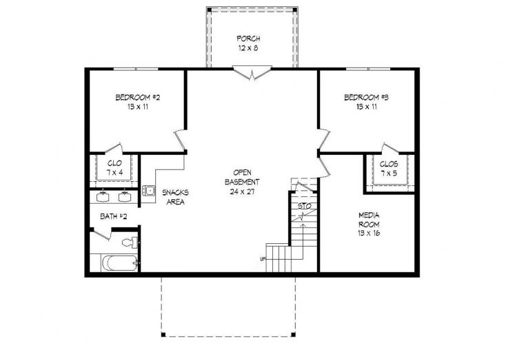 Traditional House Plan -  36109 - Basement Floor Plan