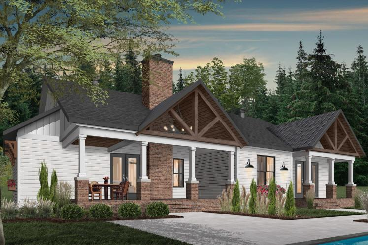 Country House Plan - Millport 2 36134 - Rear Exterior