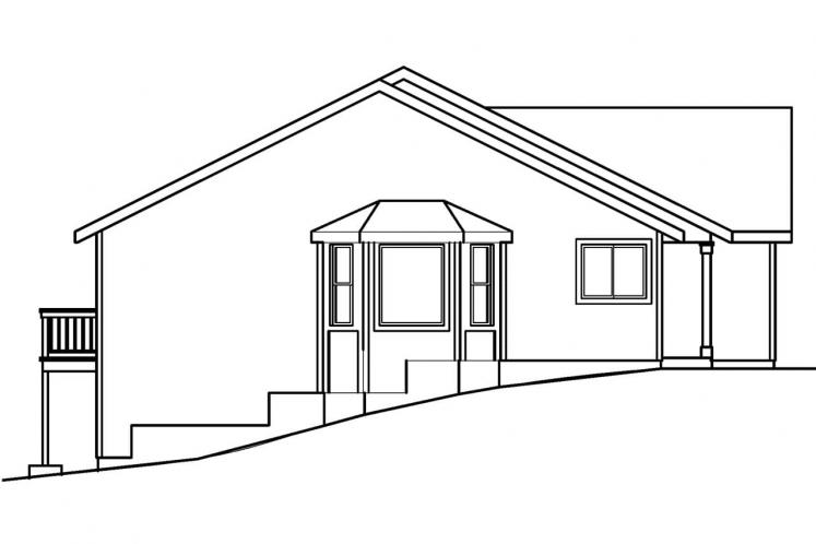 Traditional House Plan - Lander 36171 - Left Exterior