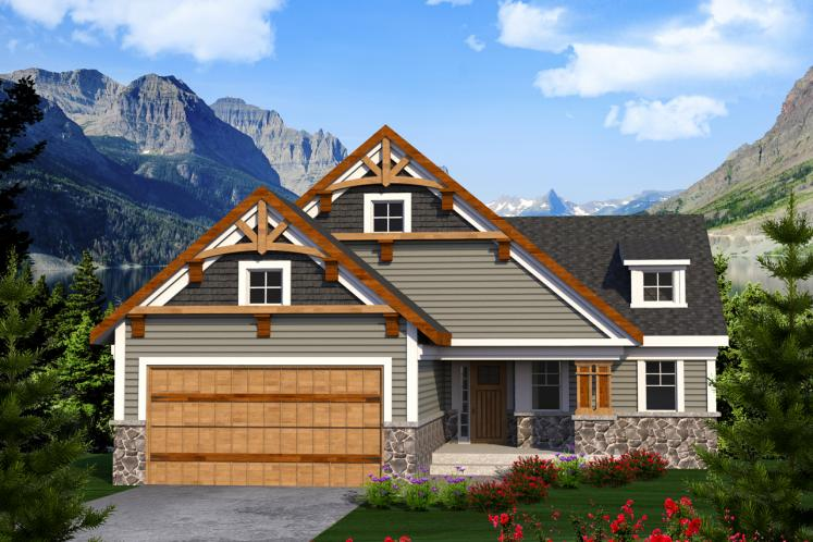 Ranch House Plan -  36326 - Front Exterior