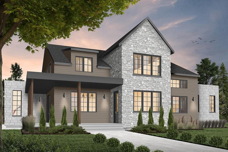 Modern House Plan - New Cotton Country 2 36460 - Front Exterior