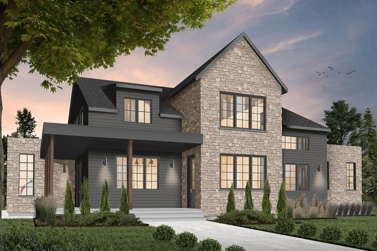 Craftsman House Plan - New Cotton Country 2 36460 - Front Exterior