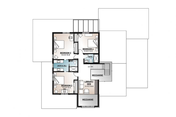 Modern House Plan - New Cotton Country 2 36460 - 2nd Floor Plan