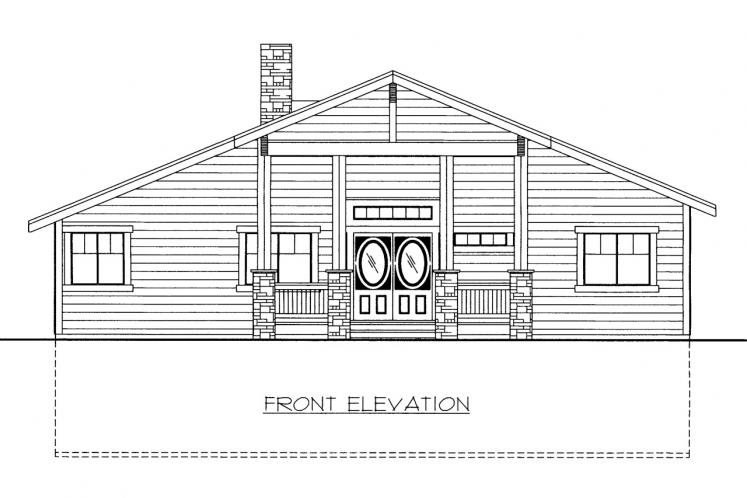 Traditional House Plan -  36570 - Front Exterior