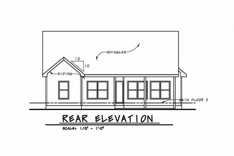 Country House Plan - Cumiskey 36654 - Rear Exterior