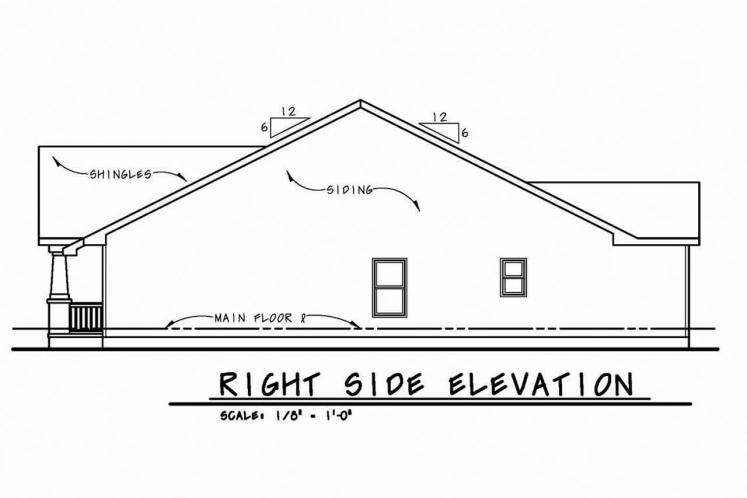 Cottage House Plan - Cumiskey 36654 - Right Exterior