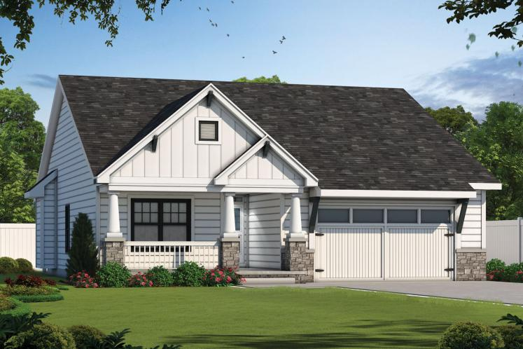 Cottage House Plan - Cumiskey 36654 - Front Exterior