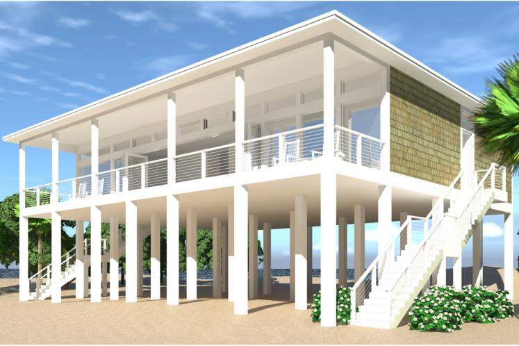 Modern House Plan - Sand Castle 36726 - Front Exterior
