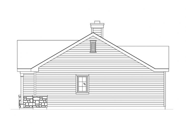 Bungalow House Plan -  36777 - Right Exterior
