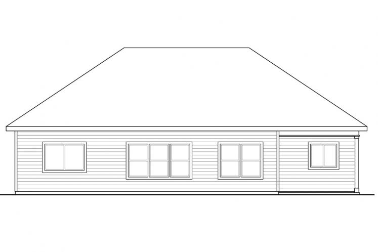 Ranch House Plan - Afton 68238 - Rear Exterior