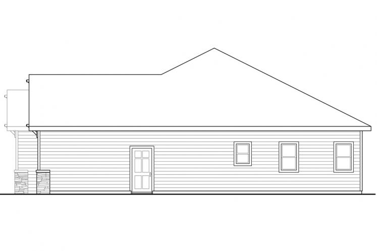Cottage House Plan - Afton 68238 - Right Exterior