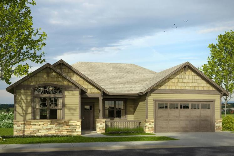 Cottage House Plan - Afton 68238 - Front Exterior