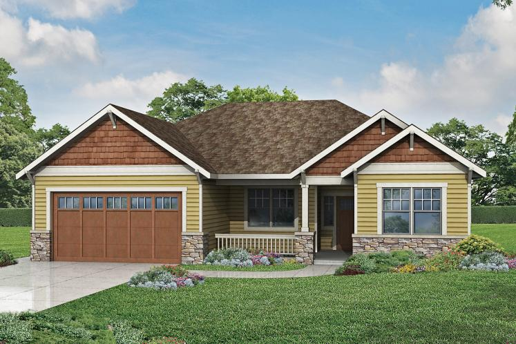 Ranch House Plan - Northfield 36788 - Front Exterior