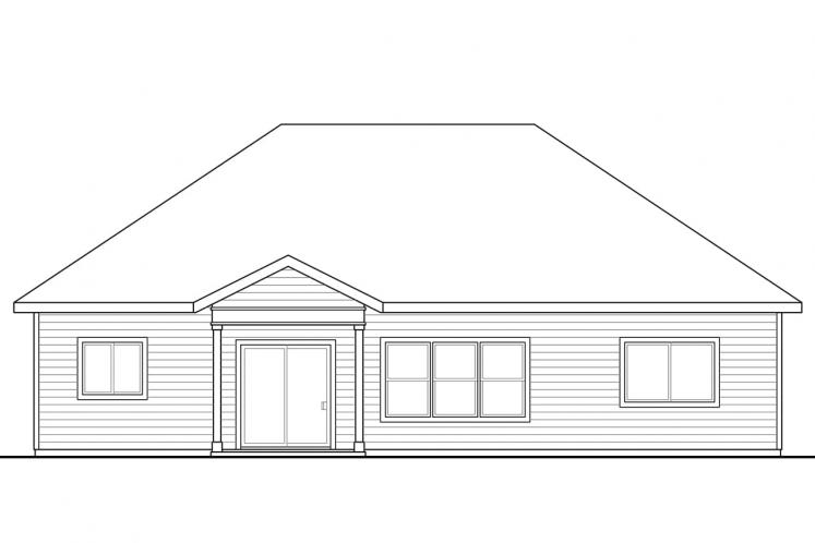 Traditional House Plan - Northfield 36788 - Rear Exterior