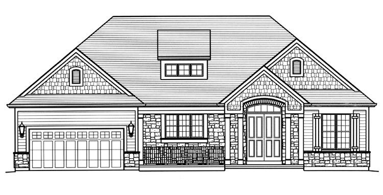 Ranch House Plan - The Churchill 36789 - Front Exterior