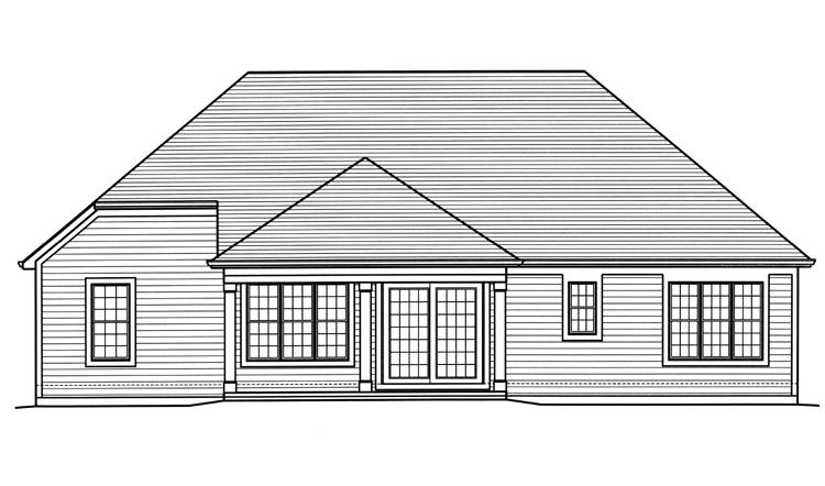 Country House Plan - The Churchill 36789 - Rear Exterior