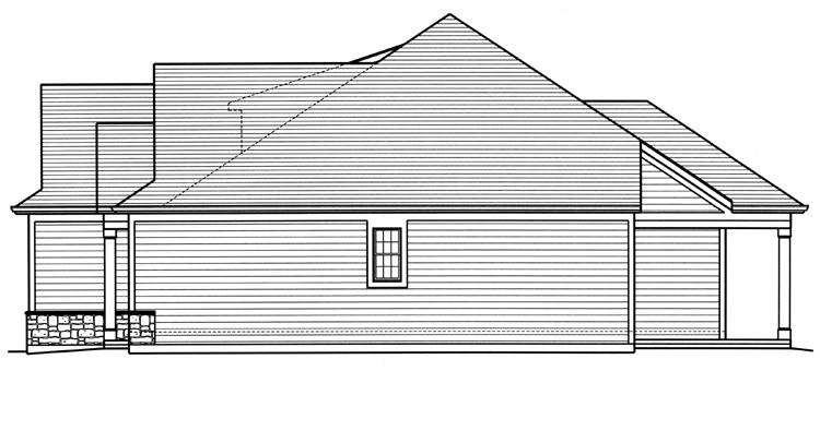 Country House Plan - The Churchill 36789 - Right Exterior