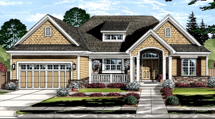 Craftsman House Plan - The Churchill 36789 - Front Exterior