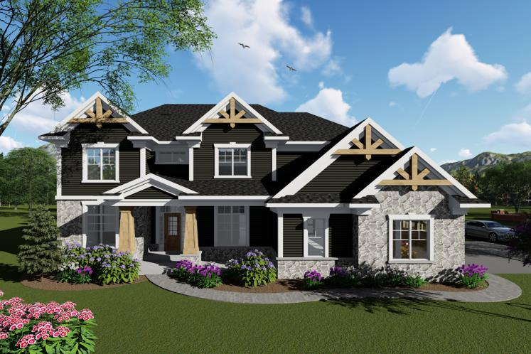 Craftsman House Plan -  36819 - Front Exterior