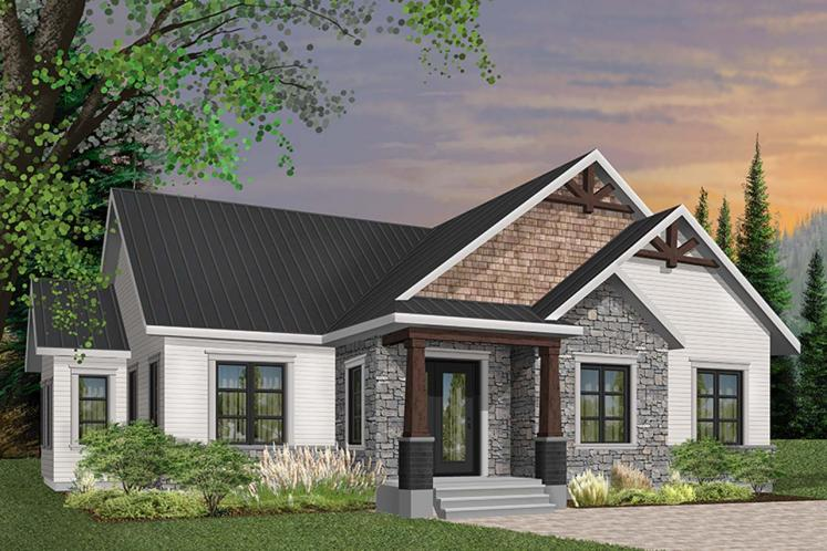 Craftsman House Plan - Providence 1 36908 - Front Exterior