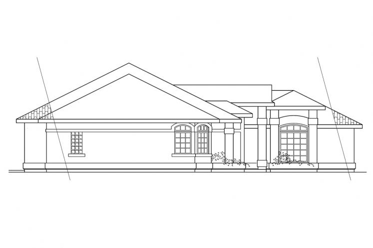 Ranch House Plan - Richmond 37093 - Left Exterior