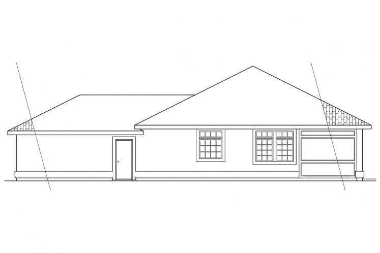 Spanish House Plan - Richmond 37093 - Right Exterior
