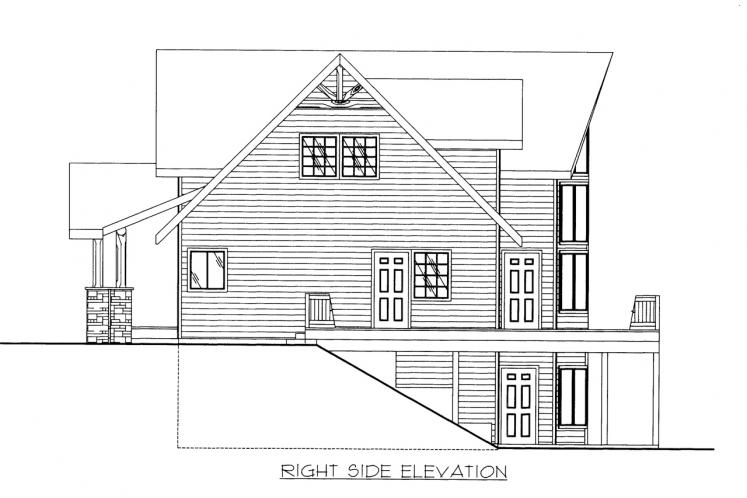 Lodge Style House Plan -  37141 - Right Exterior