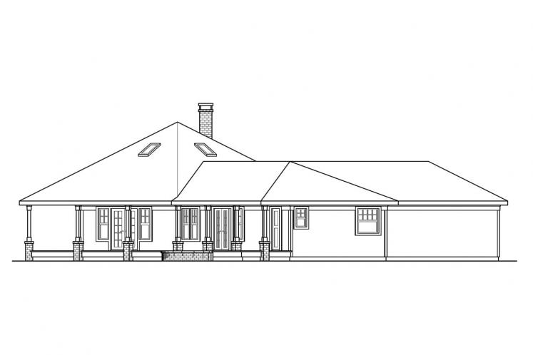Traditional House Plan - Oceanview 37142 - Left Exterior