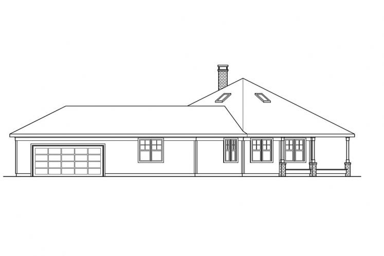 Craftsman House Plan - Oceanview 37142 - Right Exterior