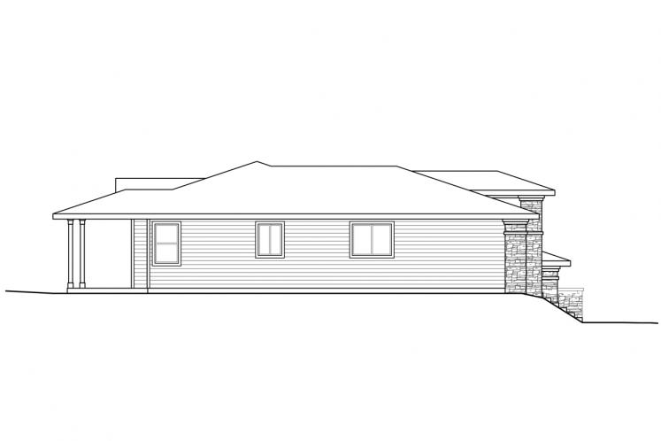 Prairie House Plan - Autumn 37153 - Left Exterior