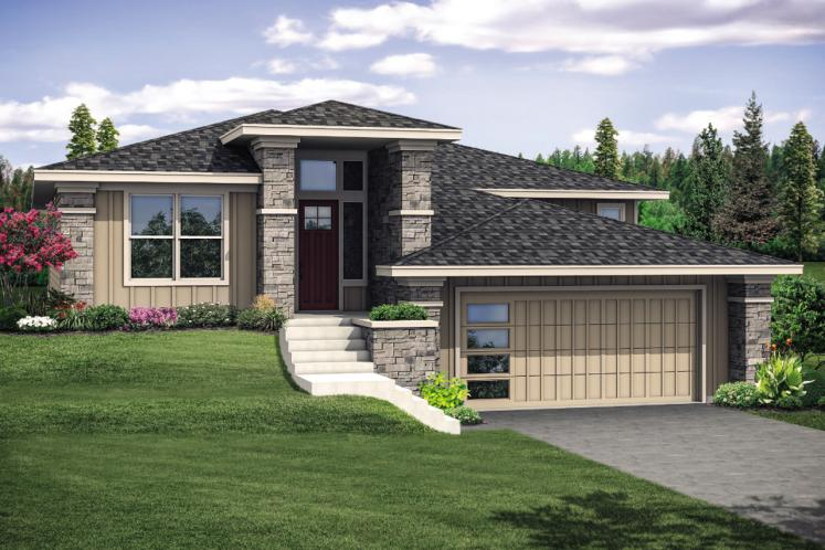 Prairie House Plan - Autumn 37153 - Front Exterior