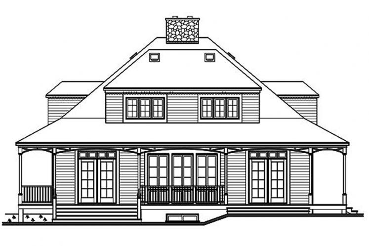 Cottage House Plan -  37380 - Rear Exterior