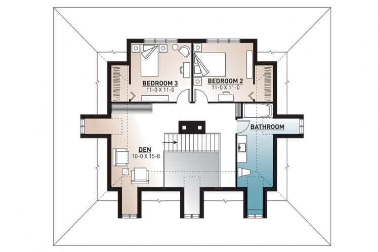 Farmhouse House Plan -  37380 - 2nd Floor Plan