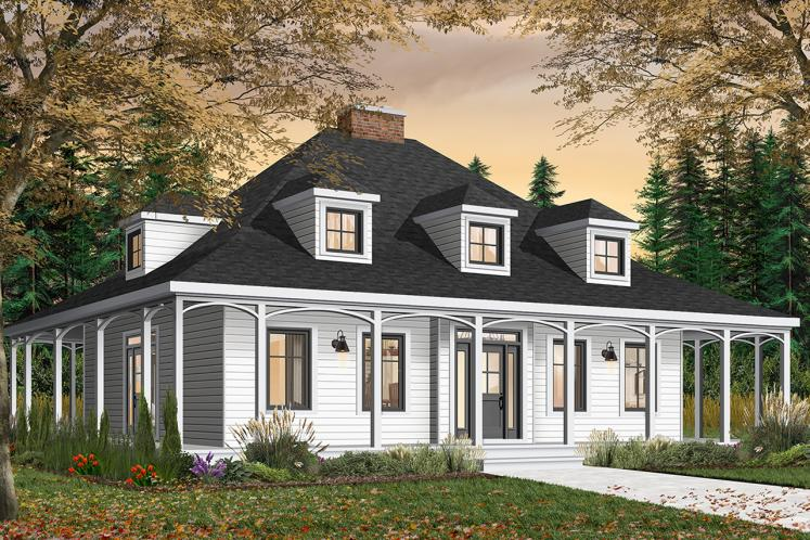 Farmhouse House Plan -  37380 - Front Exterior