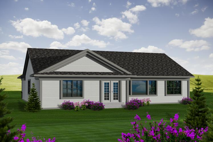 European House Plan -  37406 - Rear Exterior