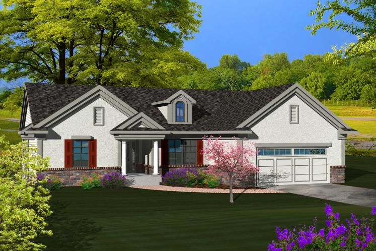 Traditional House Plan -  37406 - Front Exterior