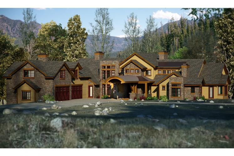 Lodge Style House Plan - Tabernash 37429 - Front Exterior
