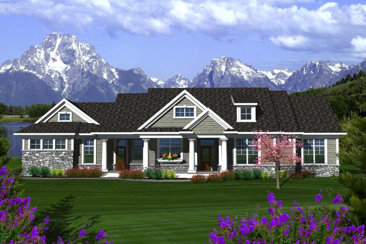Ranch House Plan -  37527 - Front Exterior