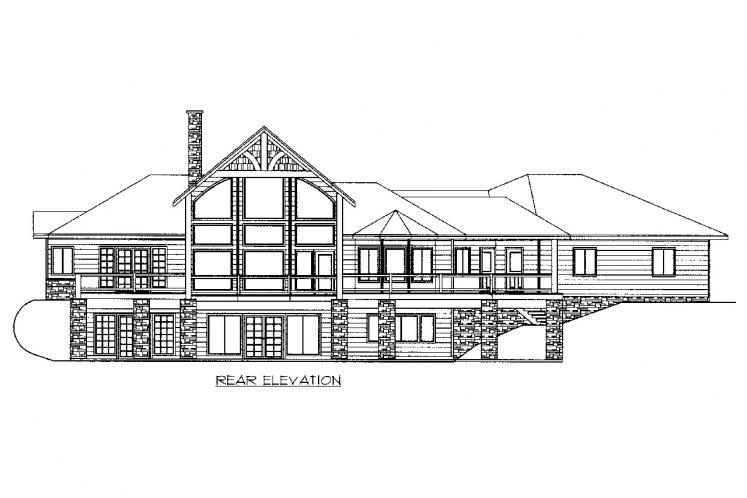 Country House Plan -  37678 - Rear Exterior