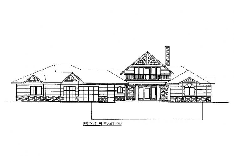 A-Frame House Plan -  37678 - Front Exterior