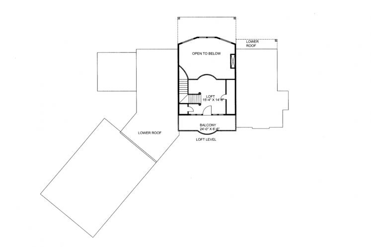 Country House Plan -  37678 - 2nd Floor Plan