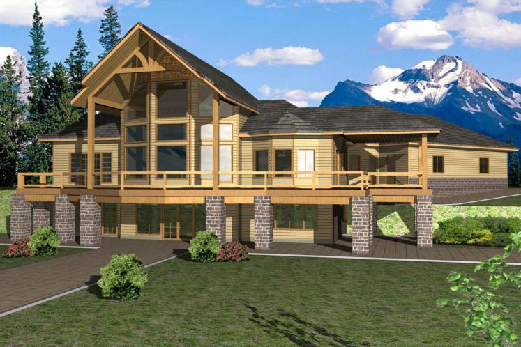 Lodge Style House Plan -  37678 - Front Exterior