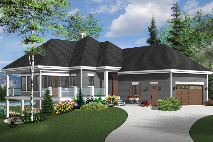 Ranch House Plan - The Gallagher 3 37689 - Front Exterior