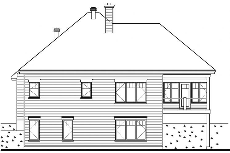 Cottage House Plan - The Gallagher 3 37689 - Rear Exterior