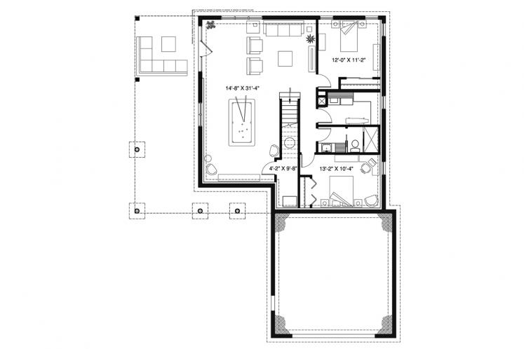 Cottage House Plan - The Gallagher 3 37689 - 2nd Floor Plan