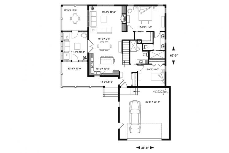 Country House Plan - The Gallagher 3 37689 - 1st Floor Plan