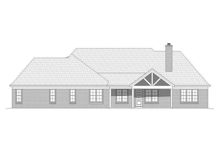 Classic House Plan - Hickory Fields 37860 - Rear Exterior