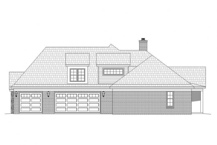 Colonial House Plan - Hickory Fields 37860 - Right Exterior
