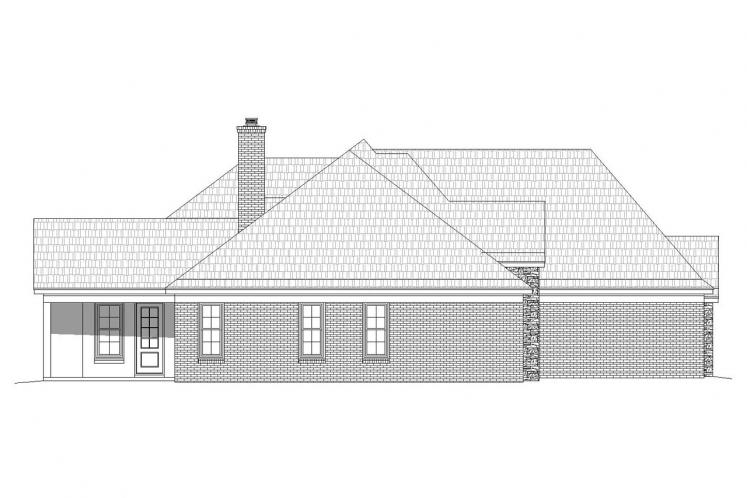 Craftsman House Plan - Hickory Fields 37860 - Left Exterior